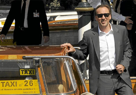 Nicolas Cage en el lanzamiento de 'Bad Lieutenant: Port of call New Orleans'.|Afp
