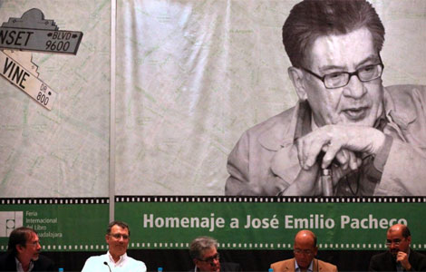 Homenaje a Pacheco en la FIL de Guadalajara. | Efe