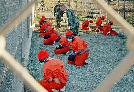 Imagen de la cárcel de presos de Guantánamo. | Ap