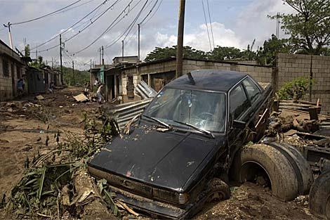 Un pueblo de Guatemala tras el paso de 'Agatha'. | Reuters
