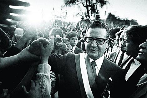 Salvador Allende poco después de su triunfo en 1971. | Archivo
