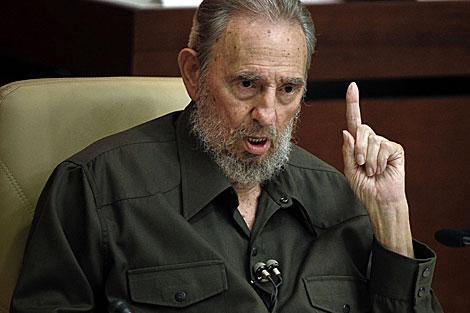 Fidel Castro habla ante la Asamblea Nacional. | AFP