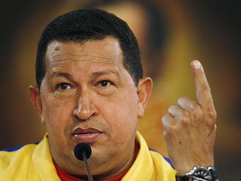 Hugo Chávez durante su comparecencia ante la prensa en Caracas. | Reuters
