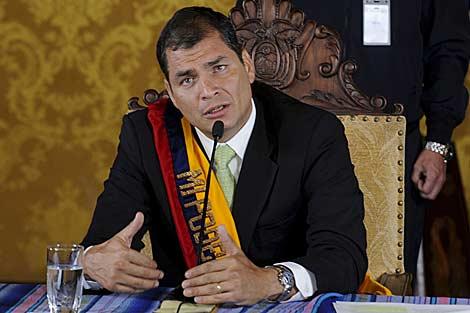 El presidente de Ecuador, Rafael Correa. | Efe