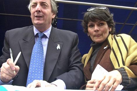 Kirchner y Quiroga, una de las raras fotos juntos.  Noticias