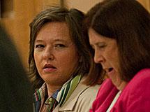 Shawna Forde en la corte.