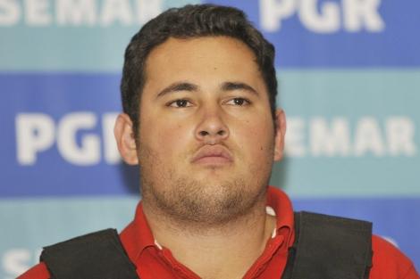Jesús Alfredo Gúzman Salazar, el hijo del 'Chapo', tras su detención. | Efe