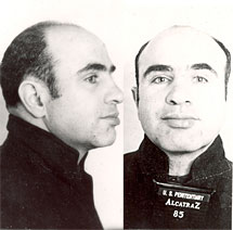 Al Capone, en su ficha policial. | FBI
