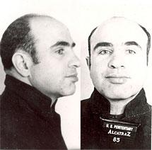 Al Capone, en su ficha policial. | FBI