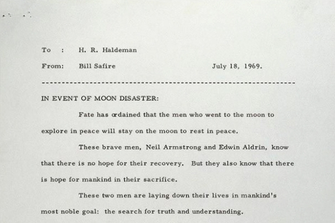 Fragmento del discurso redactado por Safire. | http://blog.thedaily.com/