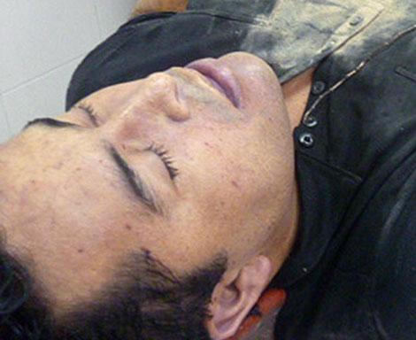 El cadáver de Lazcano.| Afp