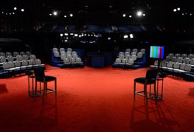Todo listo para el segundo debate presidencial.| Efe/Michael Reynolds