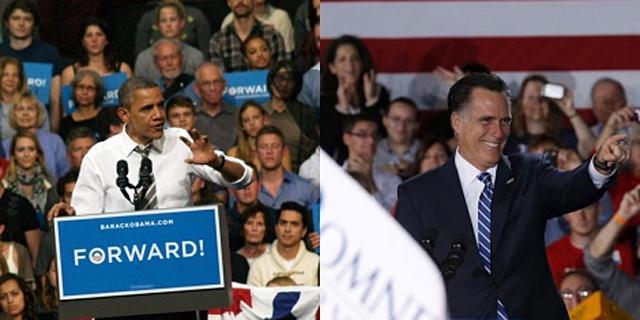 Barack Obama y Mitt Romney, en sendos actos de campaña. | Efe | Reuters