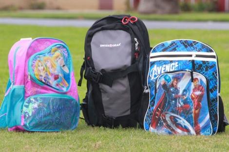 Los tres modelos de mochilas antibalas que comercializa Amendment II.