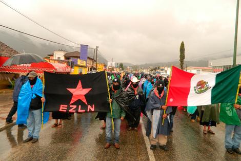 Manifestantes del Ejército Zapatista de Liberación Nacional (EZLN), en Chiapas. | Efe
