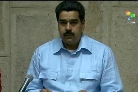 Nicolás Maduro en su comparecencia este domingo en La Habana. | Afp