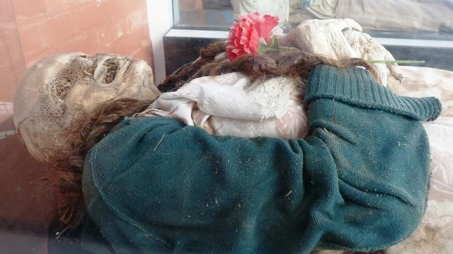 Imagen de una de las personas que ha aparecido momificada. | Foto: F. A. [VEA MÁS IMÁGENES]