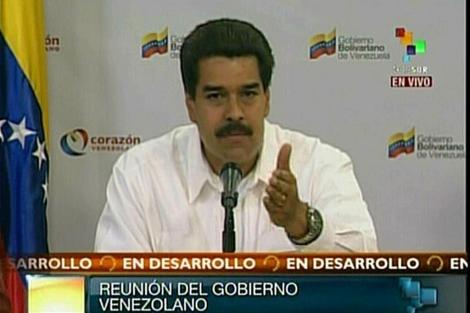 Maduro habla en la televisión estatal