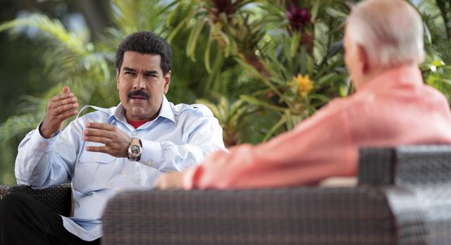 Nicolás Maduro en un momento de la entrevista. | Reuters