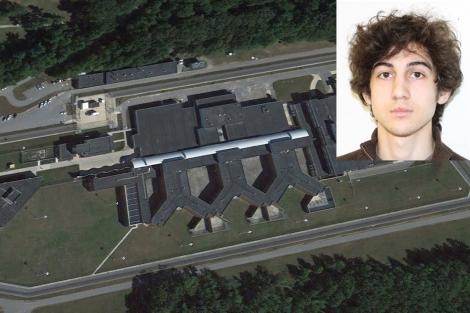 Imagen de la prisión en la que está recluido Dzhojar Tsarnaev. | Reuters