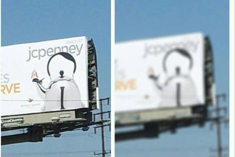 El anuncio de la tetera con la forma de Hitler, en una foto publicada en Twitter. E..M