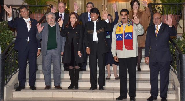Varios mandatarios latinoamericanos reunidos con Evo Morales en Cochabamba. | Efe