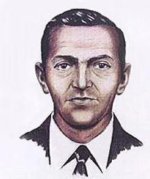 Retrato robot de D.B. Cooper a partir de la descripción de los pasajeros secuestrados