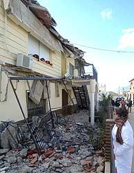 Una de las viviendas más afectadas en Zarzilla de Ramos. (Foto: EFE)