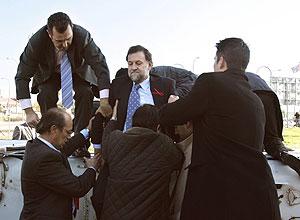 Mariano saliendo de su helicoptero privado