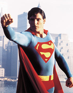 Christopher Reeve como Superman.