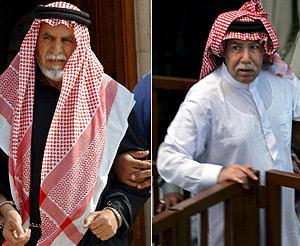 Al Bandar (izq.) y Al Tikriti. (Foto: EFE)