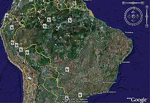 proyectos wwf en google earth
