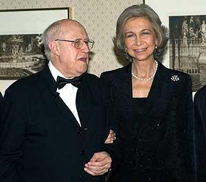 Rostropovich y la Reina Sofia