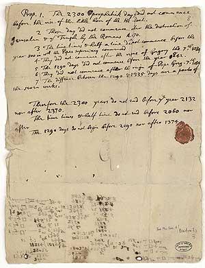 El manuscrito firmado por Newton. (Foto: AFP)
