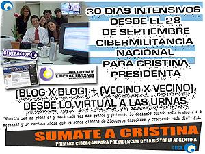 Imagen de la cibercampaña 'Sumate a Cristina'.