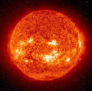 Imagen del sol tomada por SOHO (NASA)