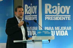 Mariano Rajoy, en Barcelona. (Foto: Antonio Moreno)