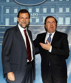 Juanvi Herrera acompañado de Marianico Rajoy