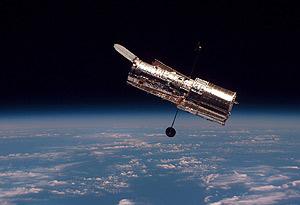 El 'Hubble', fotografiado durante la segunda misión de servicio, en febrero de 1997 (Foto: NASA)