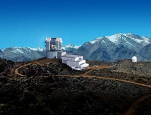 Diseño del telescopio LSST e instalaciones adyacentes (Foto: Michael Mullen Design / LSST)