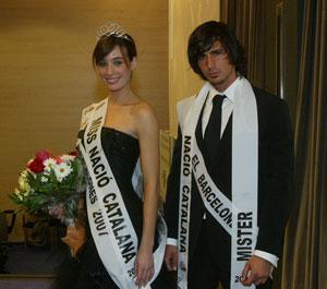 Los ganadores del certamen 'Miss y Mister Nació Catalana 2007': (Foto: Antonio Moreno)