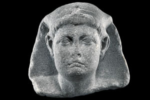 Cabeza de una de las estatuas de Alejandría recuperadas por los arqueólogos submarinos. (Foto: Hilti Foundation)