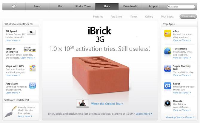 El iPhone, convertido en el iLadrillo en Gizmodo. (Foto: Gizmodo)