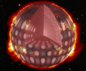 Recreación del interior de una estrella. (Foto: CNES)