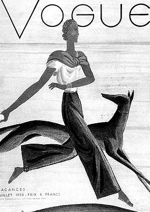 Portada de la revista Vogue ilustrada por García Benito.