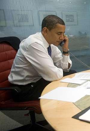 Obama atiende las llamadas de los líderes internacionales. (Foto: AFP)