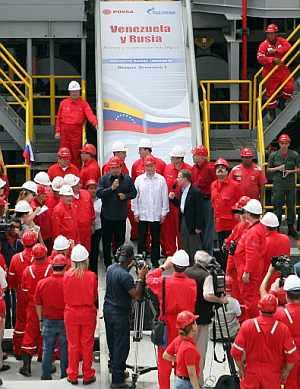 Chávez, durante una reunión con un enviado ruso, esta semana. (Foto: AFP)