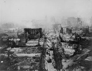 Imagen de cómo quedó la ciudad de San Francisco tras el terremoto de 1906. (Foto: Wikimedia Commons)