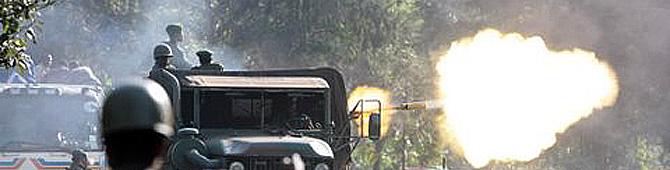 Combates entre el Ejército y los rebeldes en el Parque Nacional Virunga (Foto: Gorilla-CD)