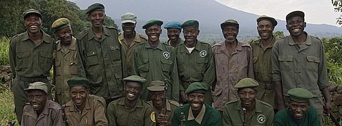 Guardas del Parque Nacional Virunga antes del estallido del conflicto. (Foto: Gorilla-CD)